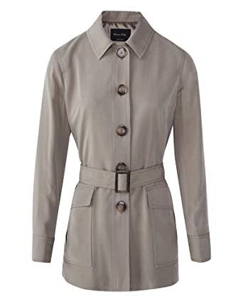 65c6b574c2a MASSIMO DUTTI Women's Belted Lyocell Safari Jacket 6035/681 Grey ...