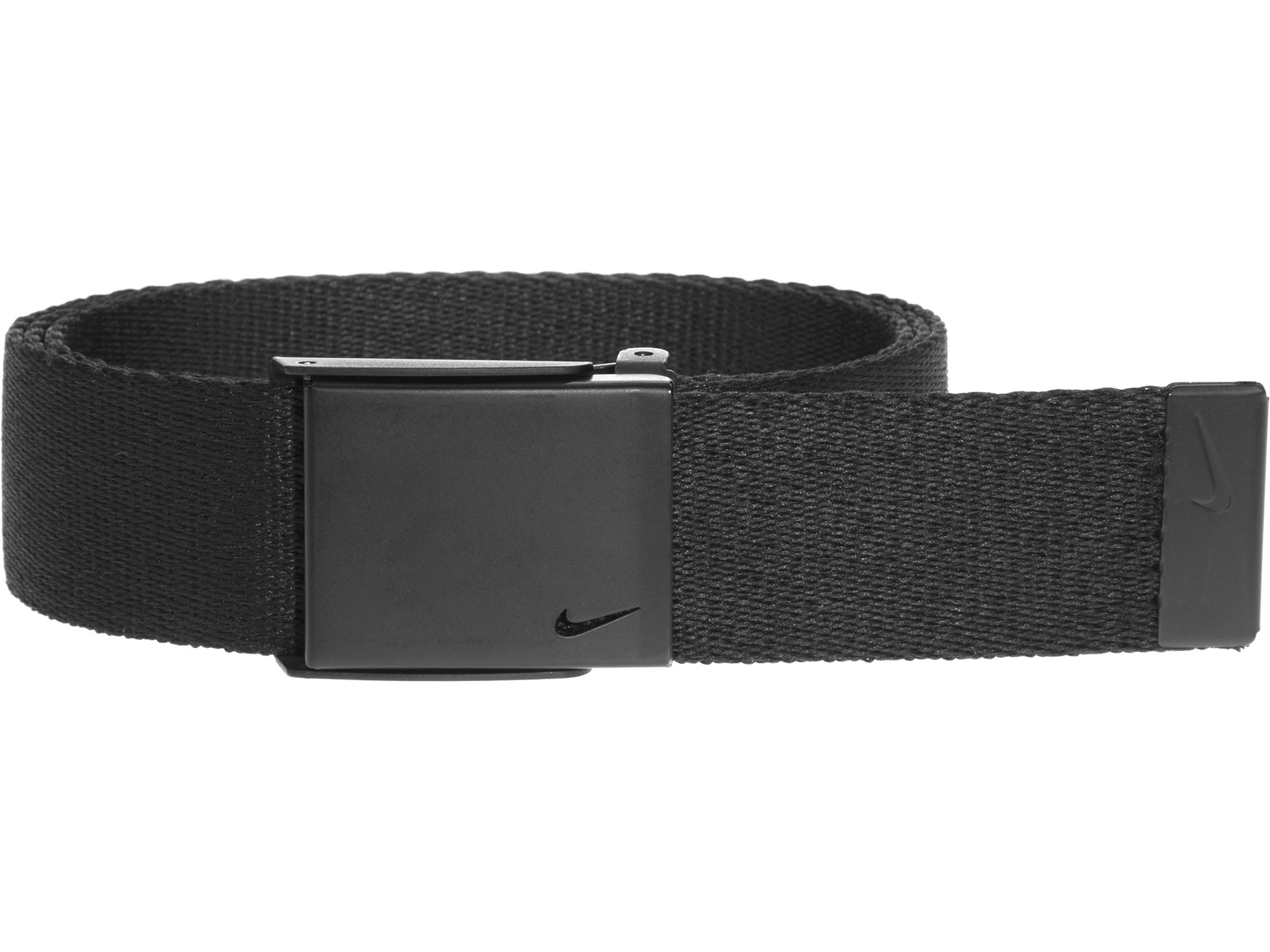 Nike Men's Single Web Belt with Matte Finish, Black, One Size