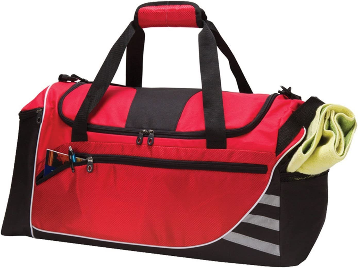 Signature Pattern Red Lightweight Crossfit Gym Bag 24-inch Nylon Polyester