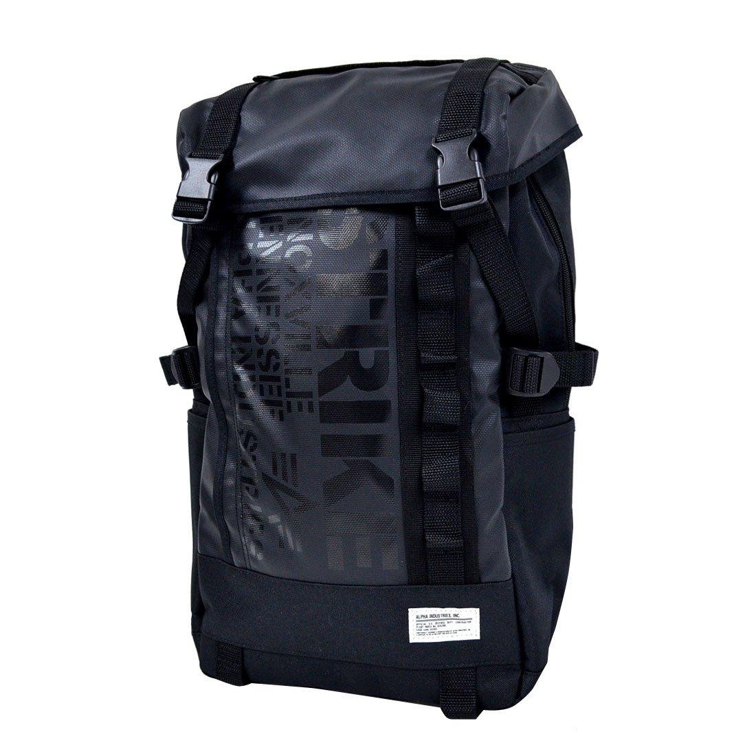 (アルファ インダストリーズ)ALPHA リュックサック メンズ レディース 0473200 フラップ デカリュック バックパック デイパック B00VJZUA82 ブラック ブラック