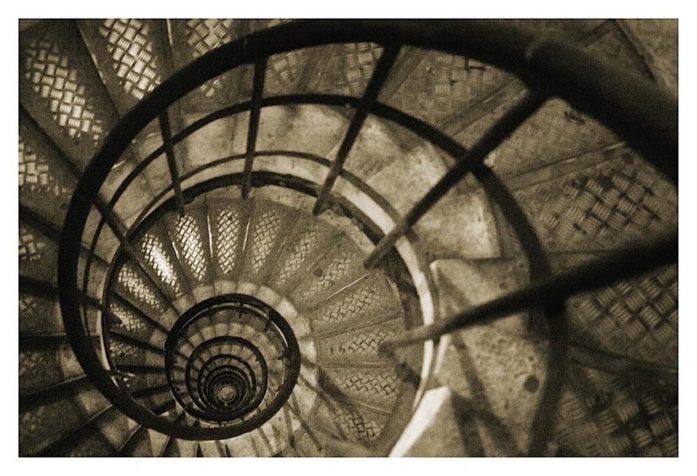 13 x 19) Christian pavo real escalera de caracol en Arc de ...