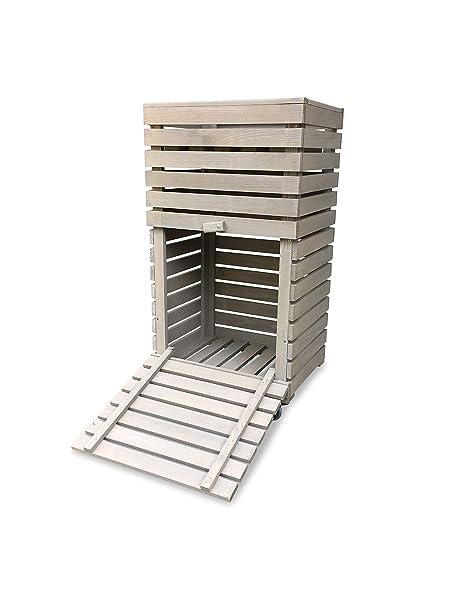 GartenDepot24 MultiBox M - Caja de jardín con Ruedas (72 x 32 x 80 ...