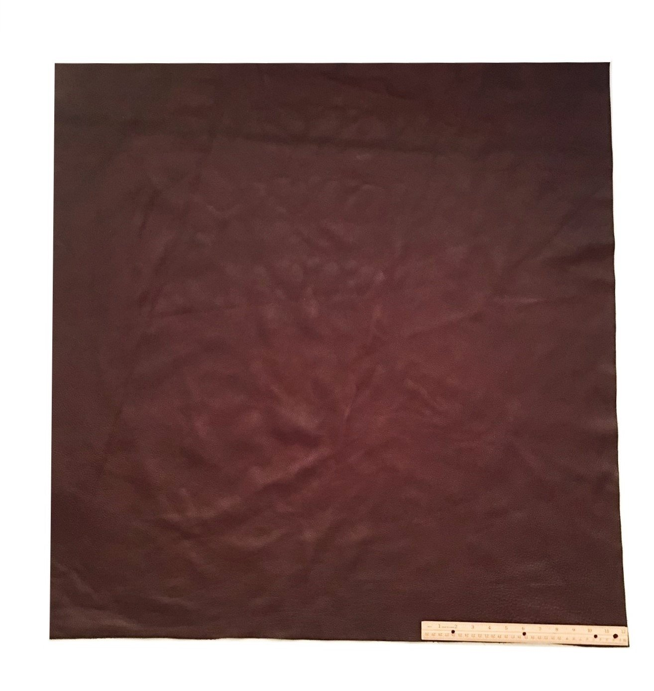 Upholstery Leather Piece Cowhide Dark Brown Light Weight 36 X 36 Inches, 9 Square Feet