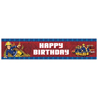 amscan International 9902181 2.7 m x 20 cm Fireman Sam Happy Birthday Holographic Banner: Toys & Games