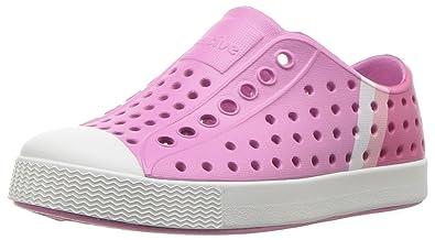 a928b9e888e55 Native Kids' Jefferson Block Child Water Shoe, Malibu Pink/Shell  White/Gradient Block Print, 6 Medium US Toddler