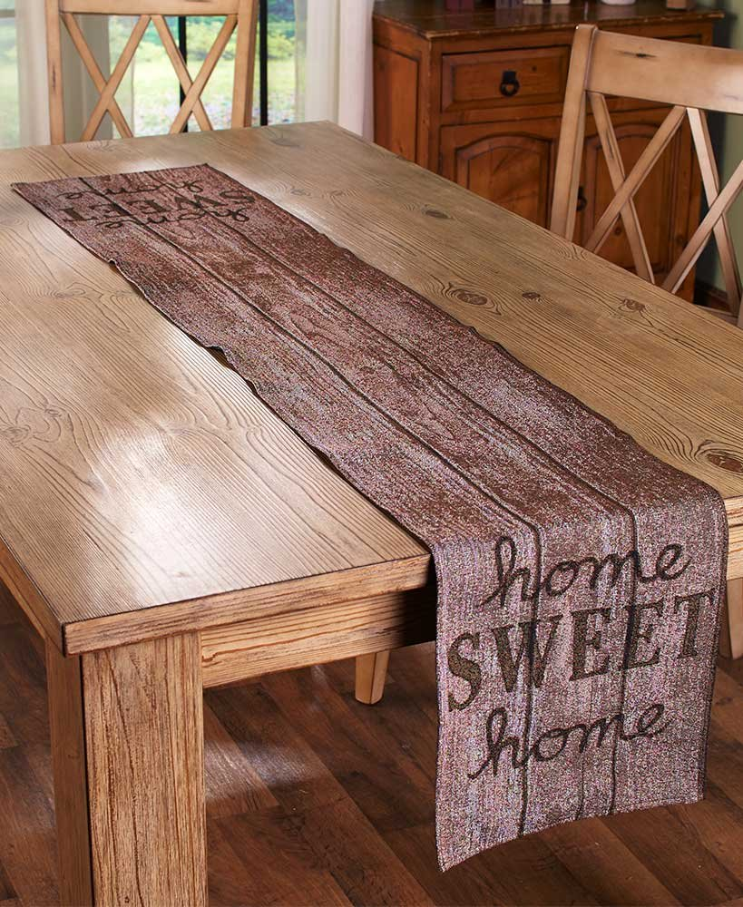 The Lakeside Collection Home Sweet Home Tapestry Runner