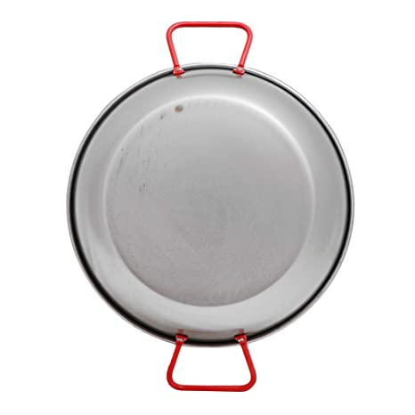 Amazon.com: Garcima 28cm Deep Polished Steel Paella Frying Pan Cookware: Kitchen & Dining