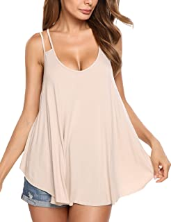 iBecly Women Girl Summer Sleeveless Button Shirt Buttoned Tank Tops