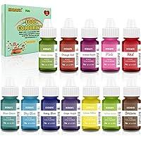 Colorante alimentario 12*6ml, Colorante Alimentario Alta Concentración Liquid Set para Colorear los Bebidas Pasteles…