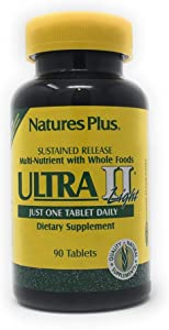 NaturesPlus Ultra II Light Multivitamin, Sustained Release - 90 Vegetarian Tablets - High Potency Daily Whole Food Vitamin & Mineral Supplement for Overall Health, Energy Booster - 90 Servings