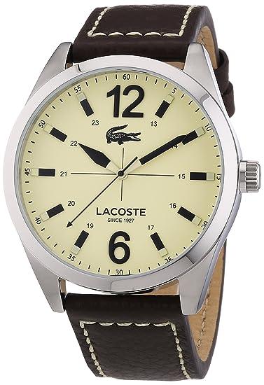 Lacoste 2010696 - Reloj para hombre, correa de piel, color marrón