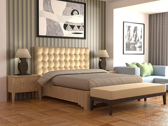 LA WEB DEL COLCHON - Cabecero Manhattan (Cama 200) 210 x 120 cms. 01 - Beig: Amazon.es: Hogar