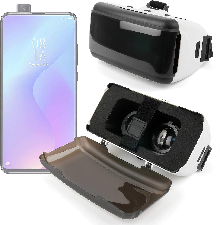 DURAGADGET Gafas de Realidad Virtual VR Ajustables en Color Negro Compatible con Smartphones Xiaomi Mi 9T Pro, REALME 5, REALME 5 Pro + Gamuza limpiadora.: Amazon.es: Electrónica