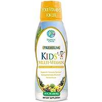 Premium Kids Liquid Multivitamin & Superfood -100% DV of 14 Vitamins for Kids. Multi-Vitamin for Children Ages 4+. Great…