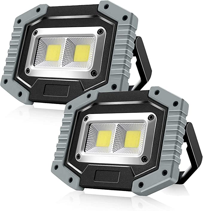 3000LM 50W Rechargeable Solar LED COB Work Light Emergency Floodlight 2 Modes