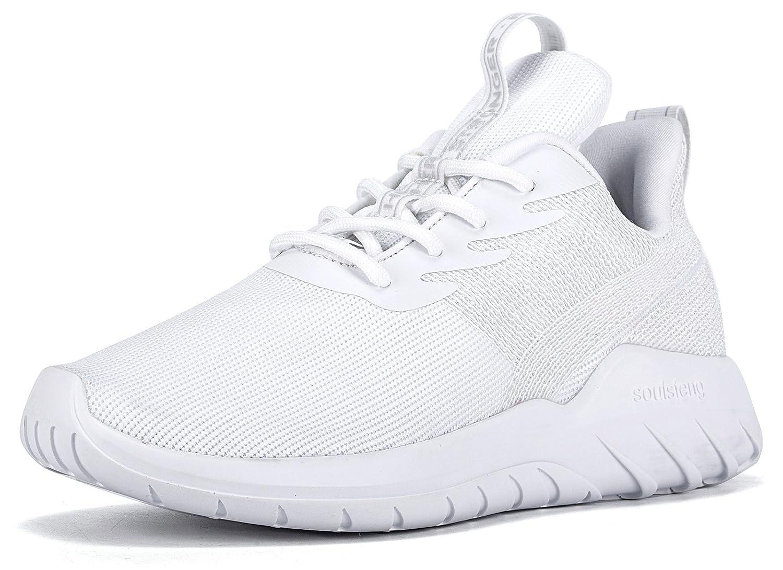 Soulsfeng Men Women Unisex Casual Fashion Sneakers Lightweight Breathable Athletic Sport Shoes B06VX4181W Women US5.5=EUR36=22.5CM|White