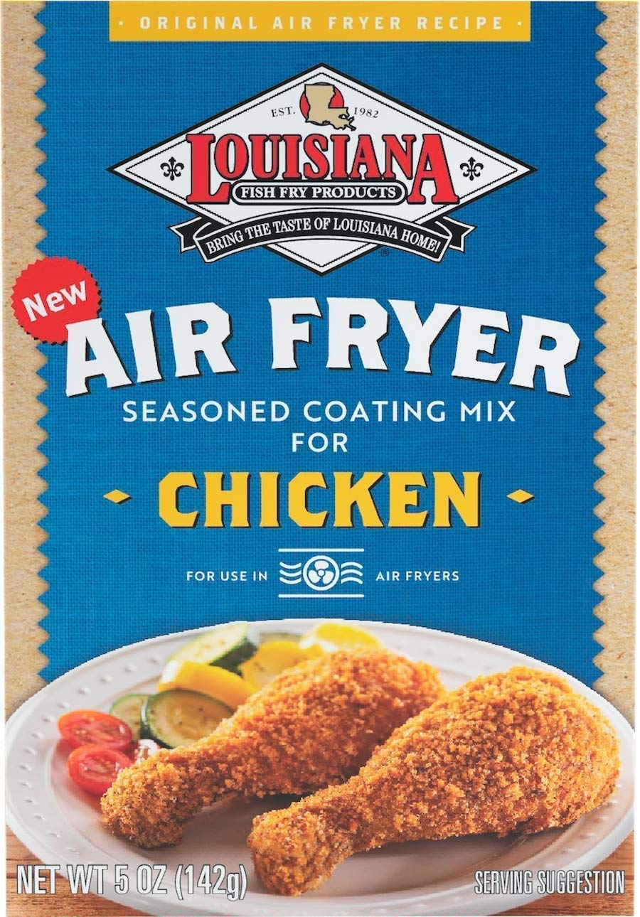 Louisiana Fish Fry Air Fryer Chicken Coating Mix, 5 Ounce (Pack of 8)