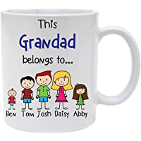 Grandad Personalised Character Mug (Please read how to personalise), FATHER'S DAY, BIRTHDAY, CHRISTMAS GIFT FOR HIM
