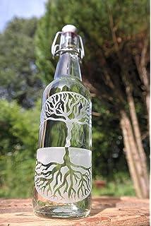 Árbol de la Vida freiglas 0,5 l Botella de cristal con cierre de clip