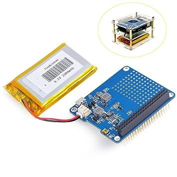 279029bcf56 Crazepony-UK Raspi UPS HAT Board for Raspberry Pi 3 Model B Pi 2B B+ ...
