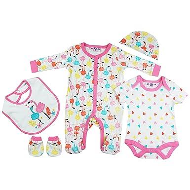 Zivaro Baby Girls Bright Pink Flamingos Presents Gifts For Newborn