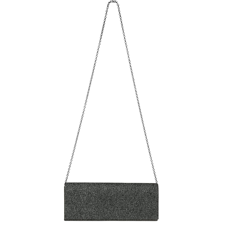 CASPAR TA343 Bolso de Mano Fiesta para Mujer Clutch Largo con Dise/ño Brillo