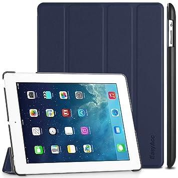EasyAcc Funda iPad 2 3 4 Ultra Slim Función de Soporte Case Carcasa Auto Sueño y Estela PU Azul