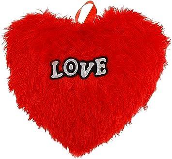 Kreative Lab LOVE RED HEART CUSHION STUFFED SOFT Heart Pillow gift for your valentine,Friends,girlfriends,boy friends, Wife( 30 Cm X 20 Cm )