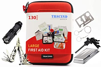 First Aid Kit Compact Survival Kit2018 Upgraded Emergency Earthquake Trauma