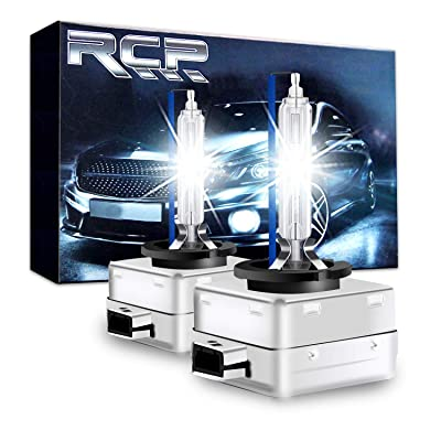 RCP - D3S8 - (A Pair) D3S/ D3R 8000K Xenon HID Replacement Bulb Ice Blue Metal Stents Base 12V Car Headlight Lamps Head Lights 35W: Automotive