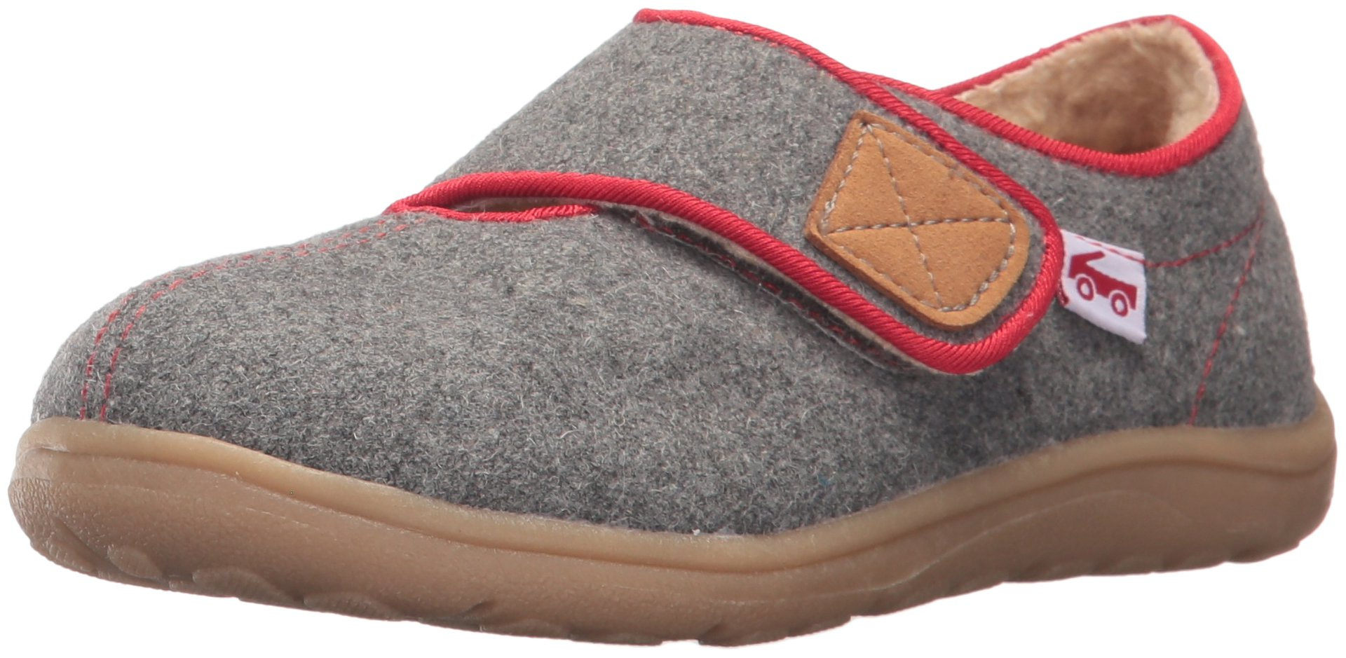 See Kai Run Boys' Cruz Shearling Slipper, Gray, 6 M US Toddler