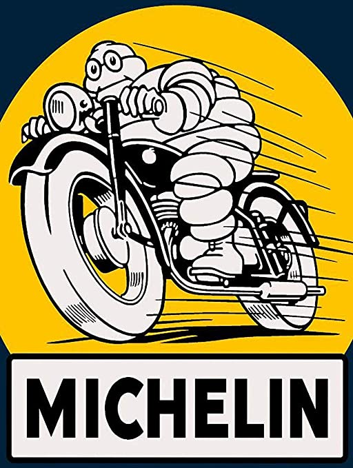 DGBELL Michelin Motorbike Cartel de Pared de Chapa ...