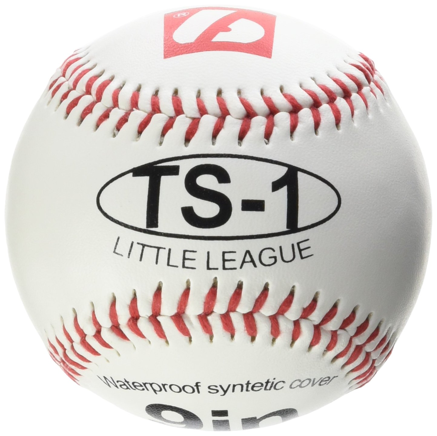 barnett TS-1 practice baseball ball, size 9, 2 pieces, white. size 9