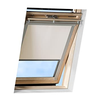 echte Qualität ausgewähltes Material die beste Einstellung Victoria M. Dachfensterrollo passend für Velux Dachfenster/verdunkelndes  Rollo/GGU M06, creme