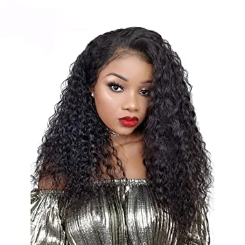 Lace Front Wig For Women 150% Density Pre Plucked Brazilian Human Remy Hair  Curly Lace aa72fdbefb