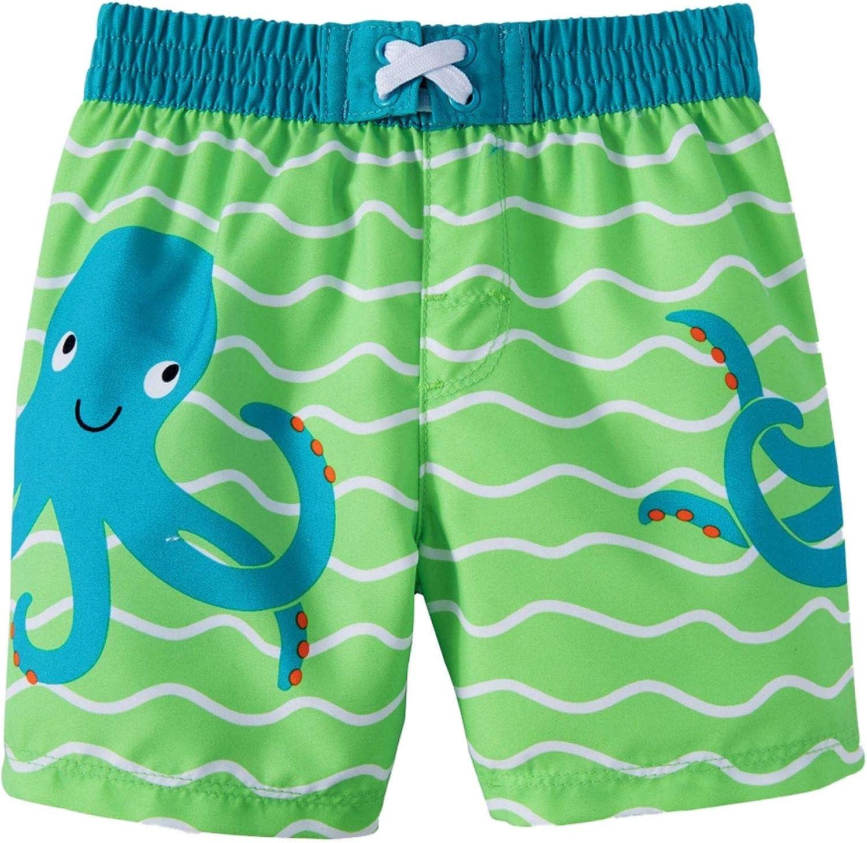 Wonder Nation Infant Boys Octopus Green Rising Swim Short Trunk 6-9 Months