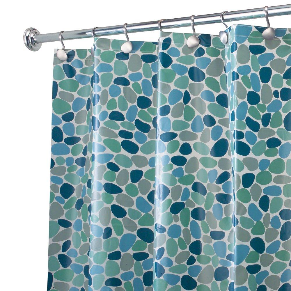 Amazon.com: InterDesign River Rockz PVC-Free PEVA Shower Curtain, 72 ...
