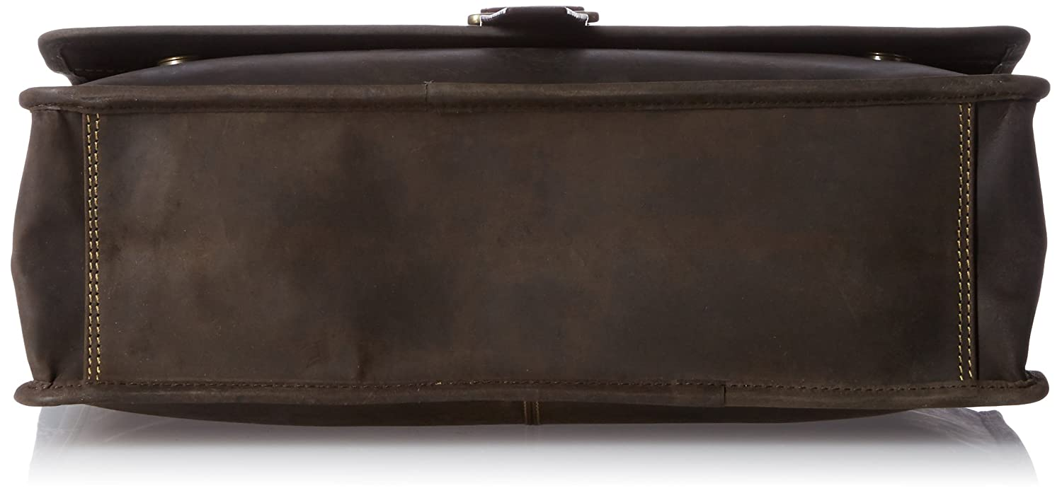 Tan Visconti Zorro Large Messenger Bag in Oiled Leather