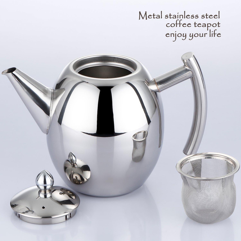 Vinpak Coffee Tea Pot 1000ML Stainless Steel Teapot Kettle