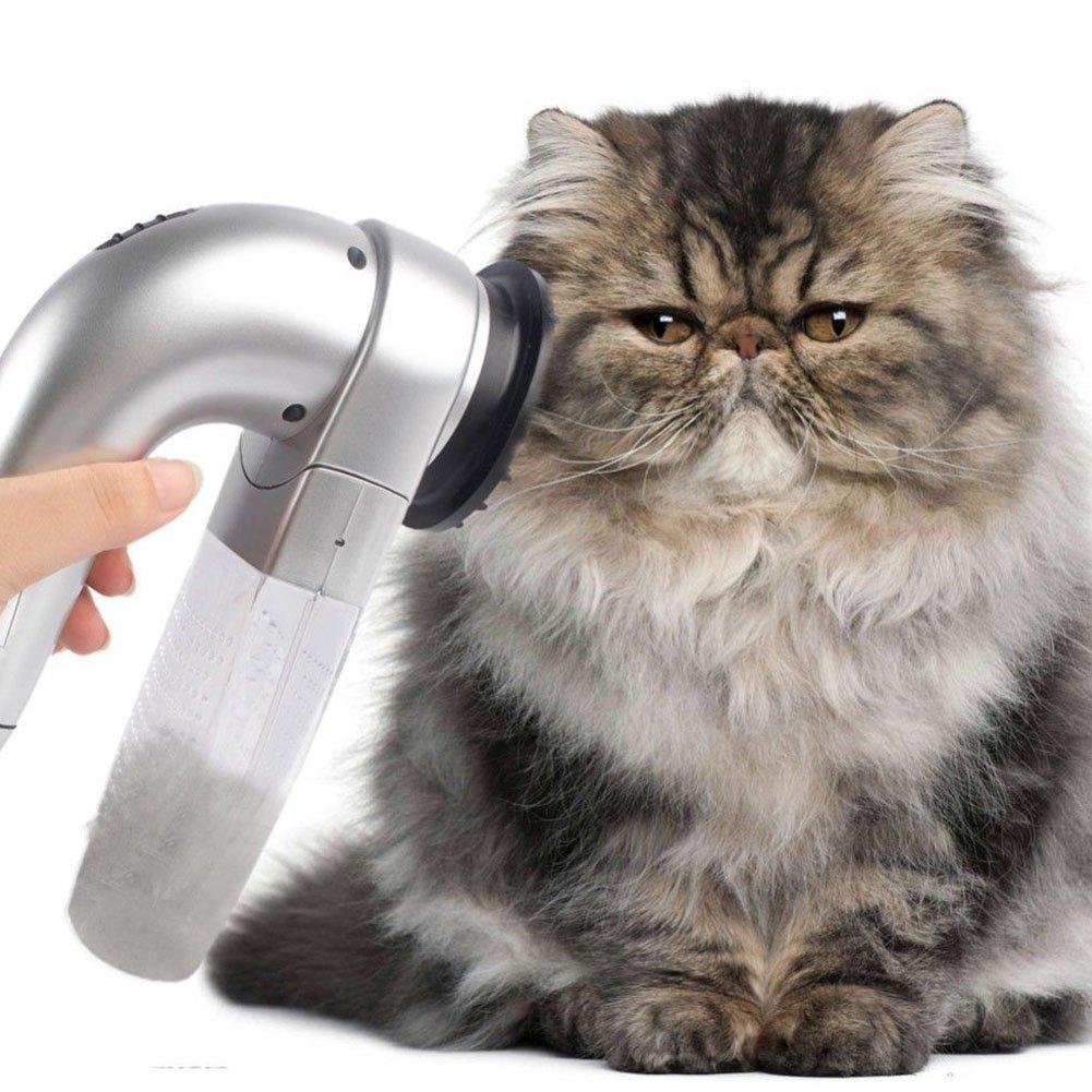 UxradG Elektrische Haustier Haarentferner, Staubsauger Haustier Hund Katze Grooming Fur
