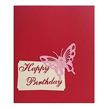 3d Pop Up Joyeux Anniversaire Carte De Voeux Gâteau Forme Surprise