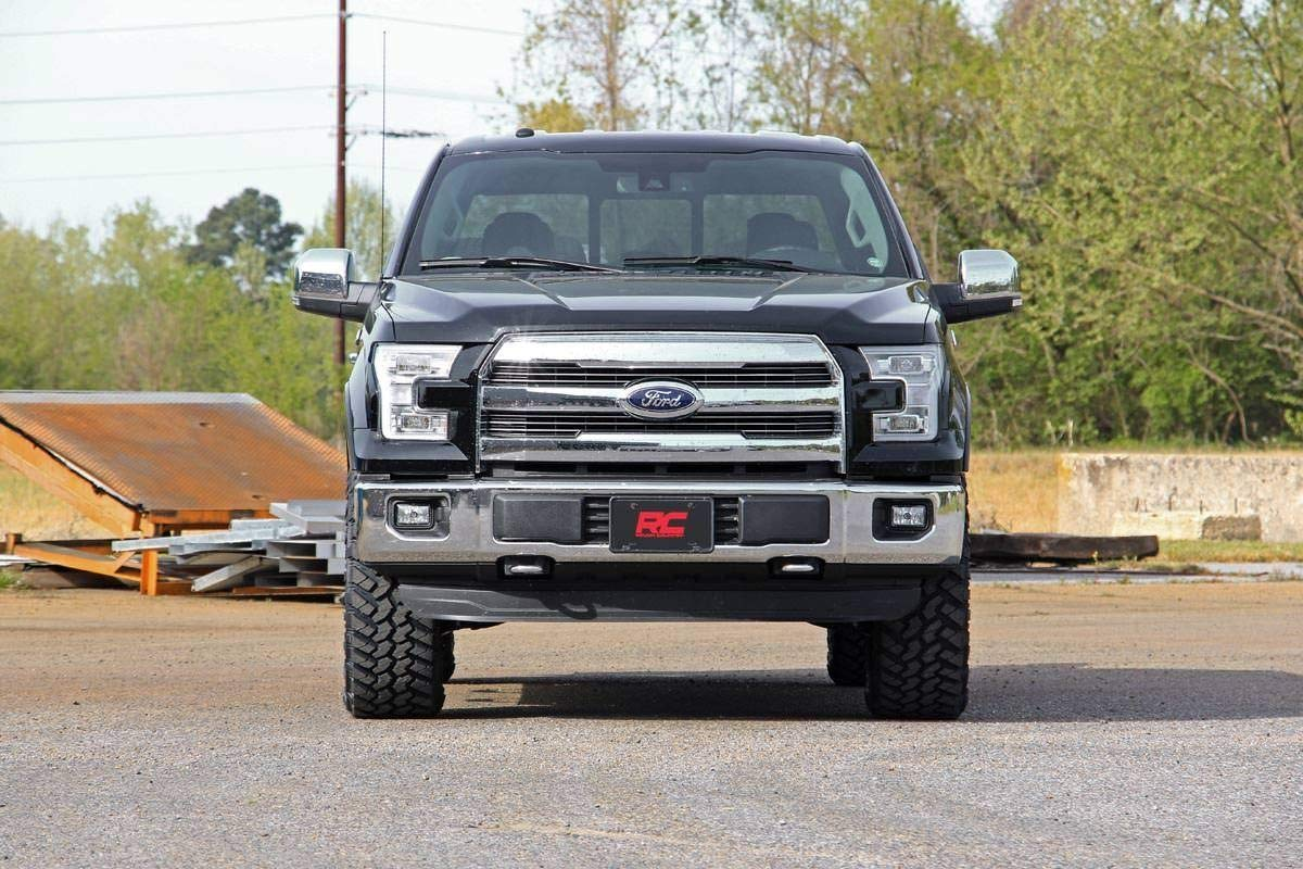 F150 Suspension System 569RED Ford Rough Country 2 Billet Leveling Kit Fits 2014-2019