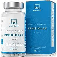 Probiótico [ 50 mil millones de UFC ] 20x Cepas bacterianas (Incl. Acidophilus & Bifidobacterium) + Inulina por dosis…