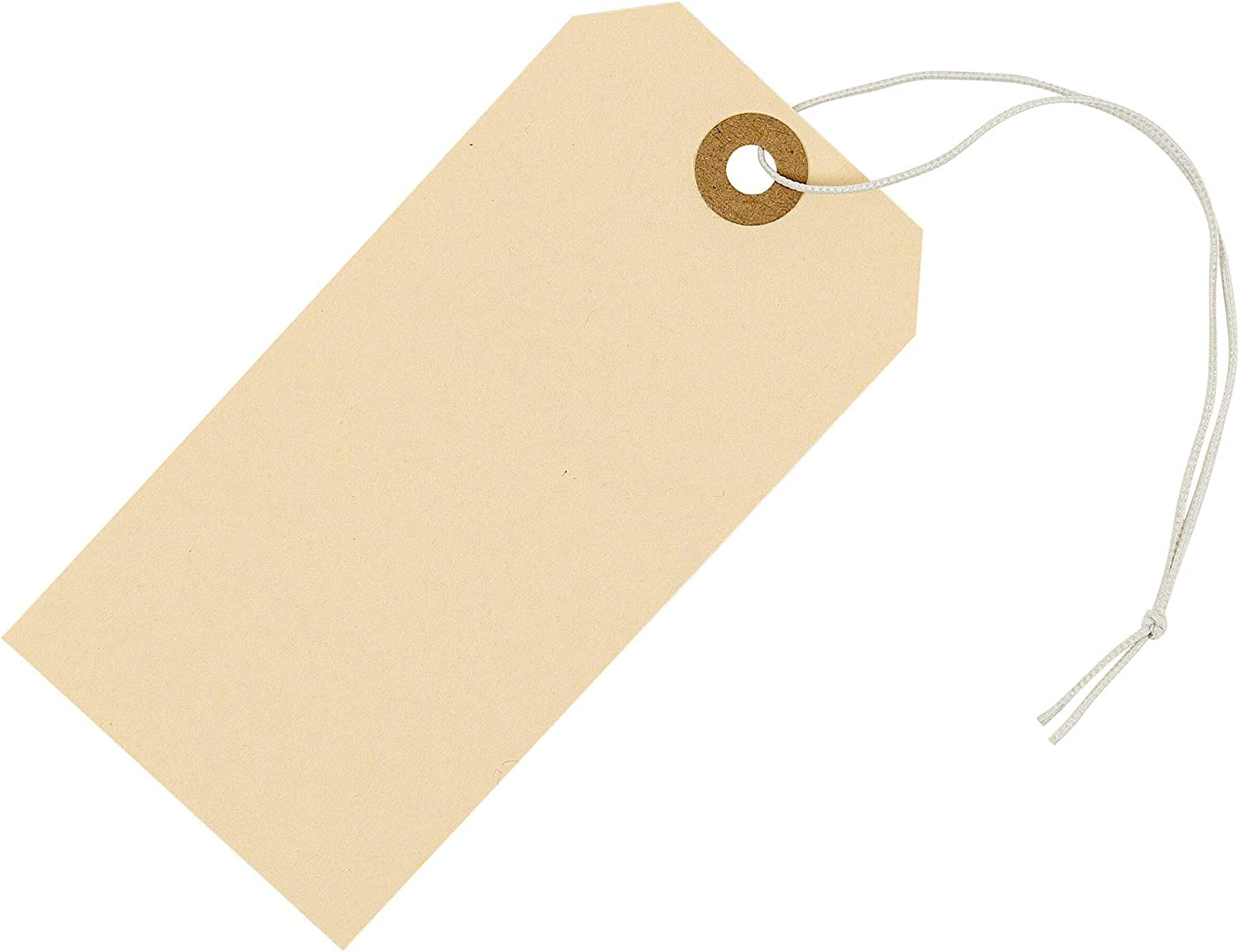 Tags with Elastic String Attached 4 3/4
