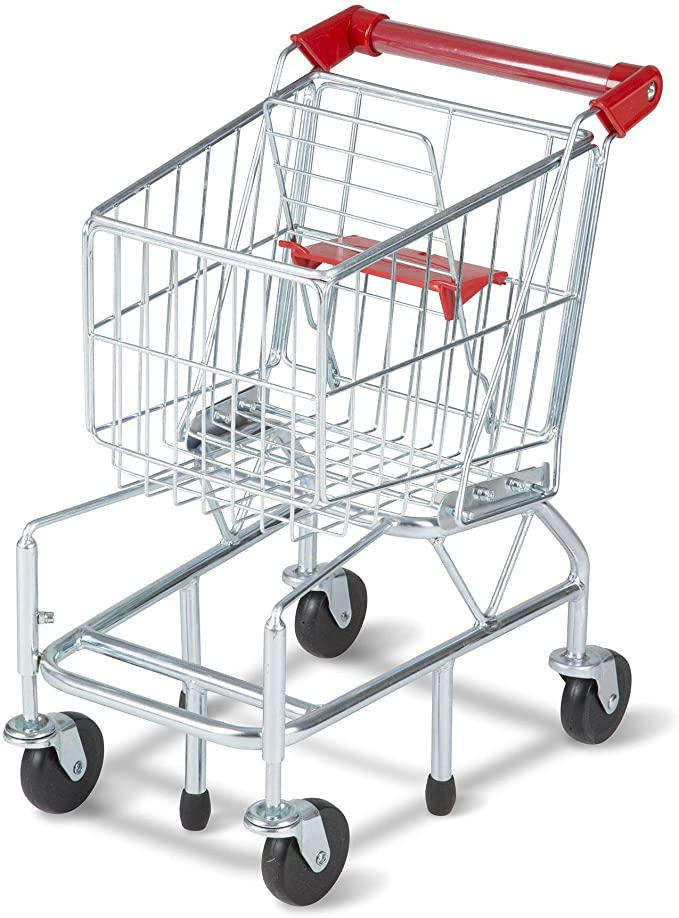 with Cutting Fruits Vegetables LOKOER Shopping Cart for Kids Best Gifts for Boys and Girls Baby Simulation Supermarket Large Shopping Cart Trolley Toy