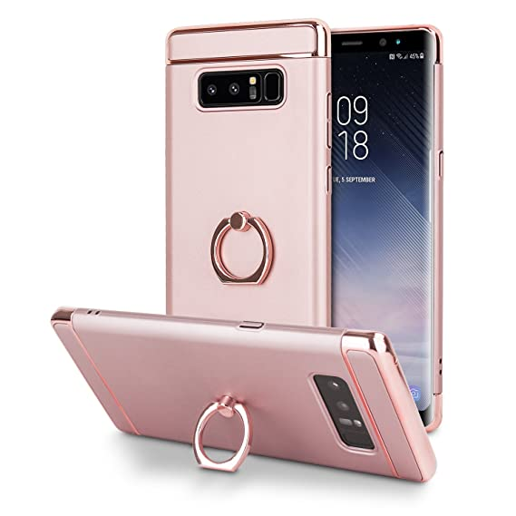 brand new d41c7 06571 Amazon.com: Olixar Samsung Note 8 Ring Case - Rose Gold - Finger ...