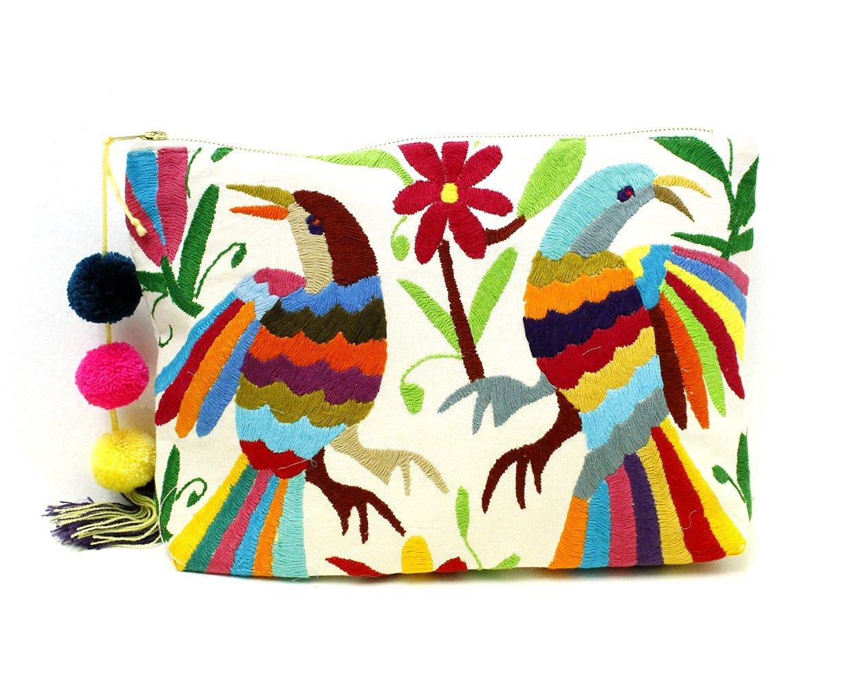 Otomi Embroidery Oversized Clutch Handbag Big Clutch by Erica Maree