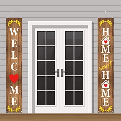 Amazon.com: Mosoan Welcome Home Sweet Home Decoraciones al ...