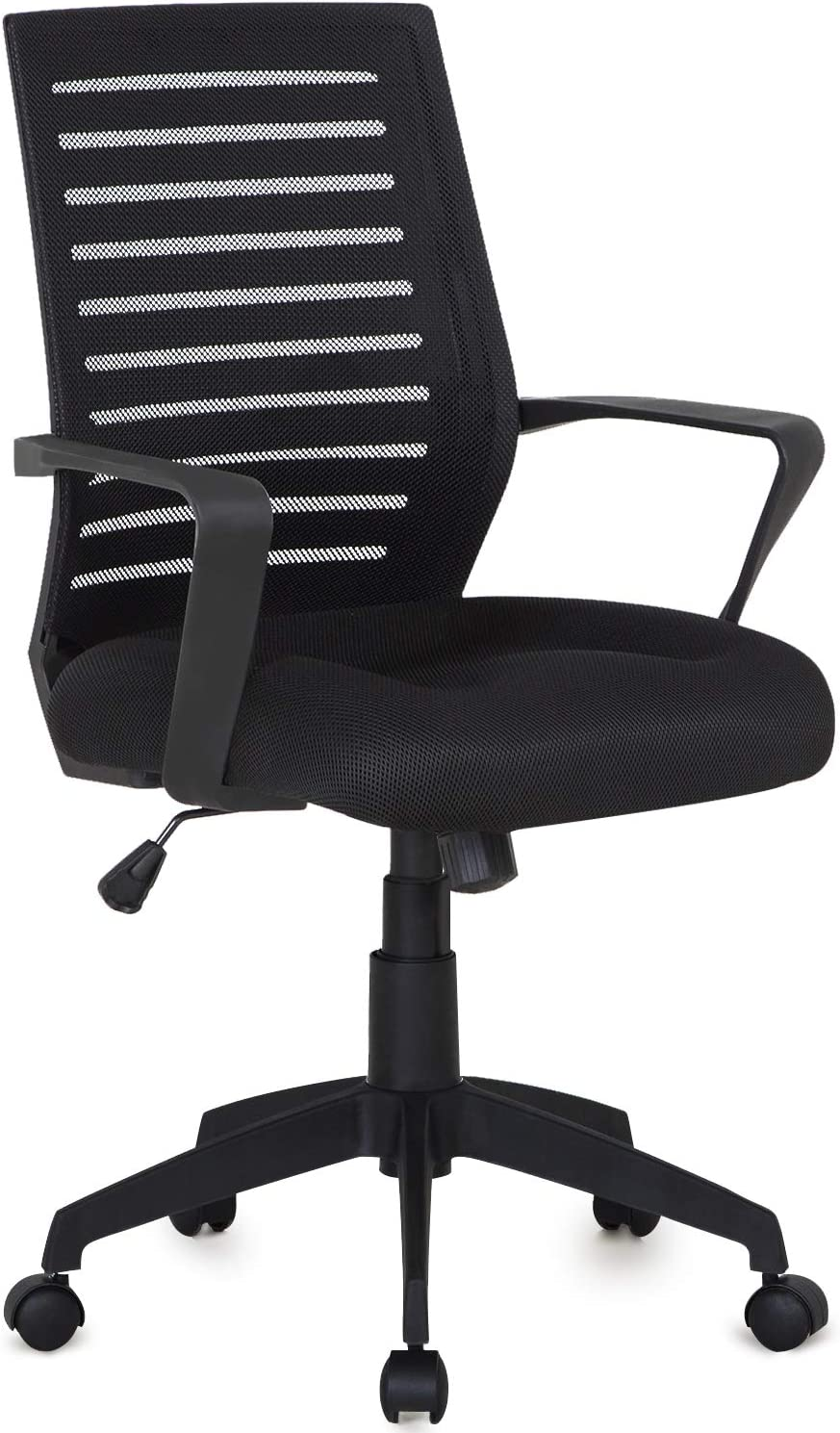 VECELO With 3D Surround Padded Seat Cushion For Task Desk Home Office Work, Black