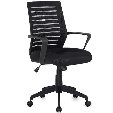 Amazon.com: Vecelo - Silla de oficina de trabajo (malla ...